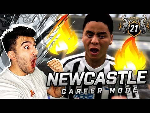 OMG THIS MAN IS ON FIRE ACADEMY TALENT DEBUT - FIFA 19 NEWCASTLE CAREER MODE 21