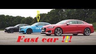 2018 New Audi RS5 v BMW M4 v Mercedes AMG C63S Drag Race  Head2Head