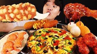 ASMR MUKBANG 피자 떡볶이 & 치즈 퐁…