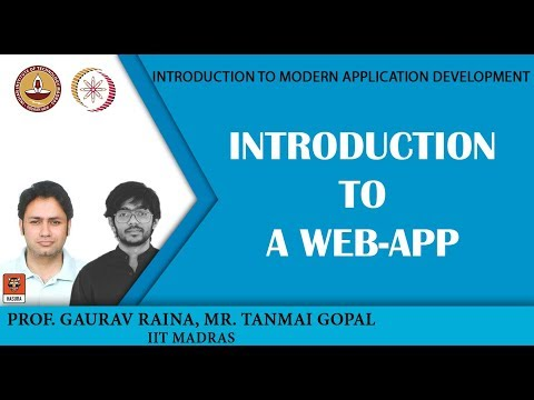 Introduction to a web-app