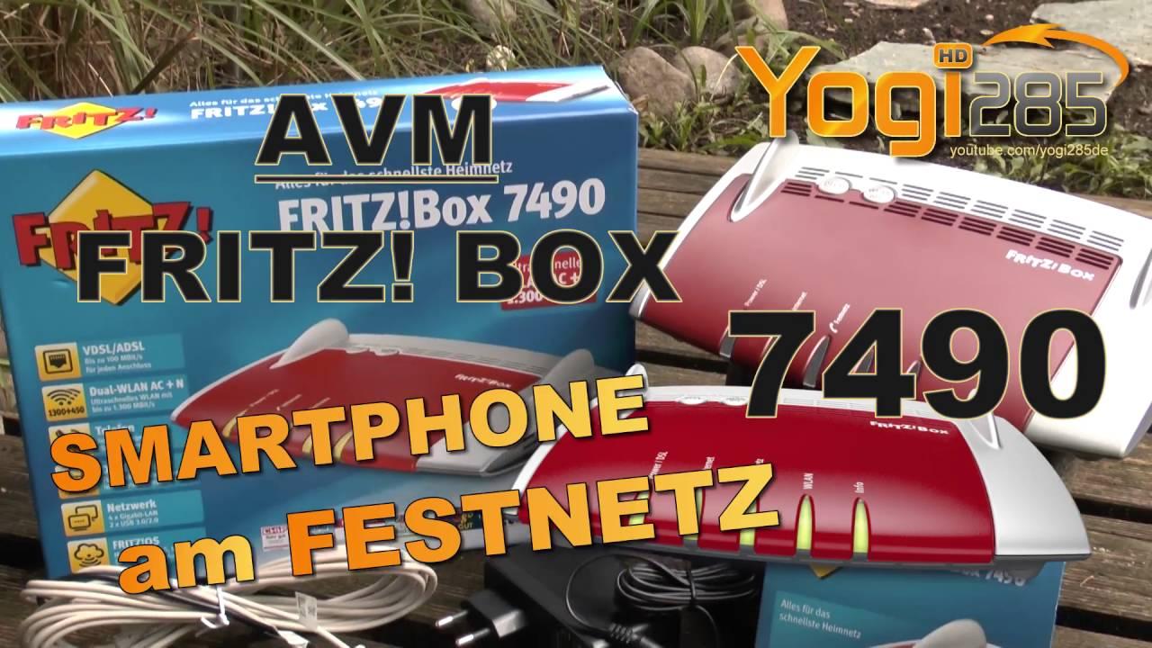 Avm Fritz Box 7490 Smartphone Als Festnetz Telefon Nutzen Z B