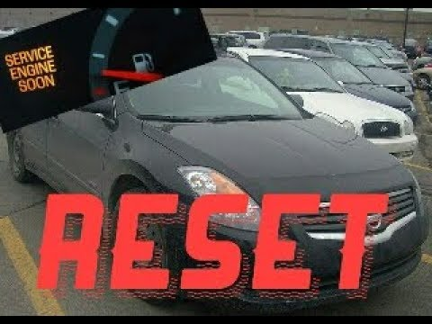 How to reset Service Engine soon Light on a 2011 Nissan Altima
