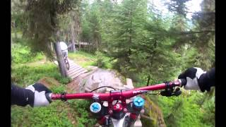 Verbier - Downhill mountain biking - Essex Herts MTB Alps Trip 2012