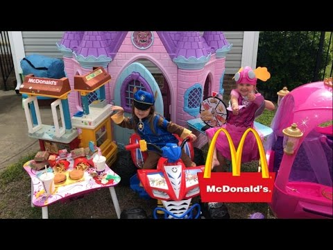 Disney Castle Shimmer and Shine Paw Patrol McDonalds Drive Thru Prank Princess