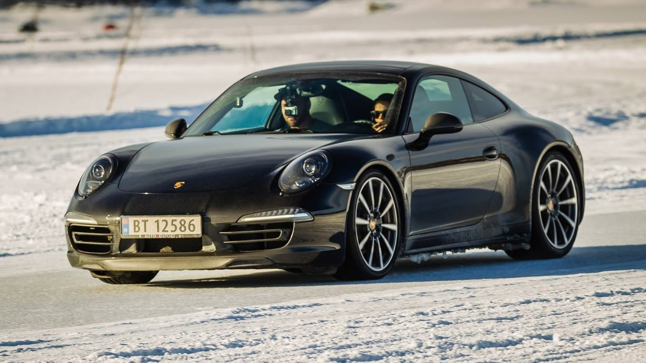 porsche 911 carrera 4s on ice snow golsfjellet norway. Black Bedroom Furniture Sets. Home Design Ideas