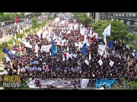 Global May Day Protests Against Austerity and Deaths of Bangladeshi Workers