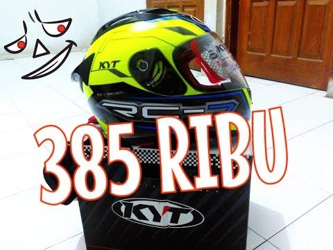 unboxing helm fullface KYT RC-7 belum double visor gagal beli INK CL MAX gara2 warna valentino rossi