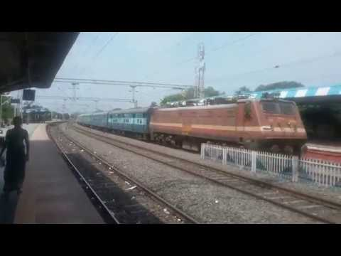 Kerala Super Fast and longest Train Passing from Mahbubabad