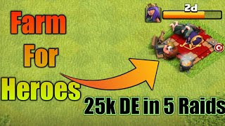NEW BEST WAY TO FARM DARK ELIXIR IN Clash Of Clans! - MAX HEROES FAST!