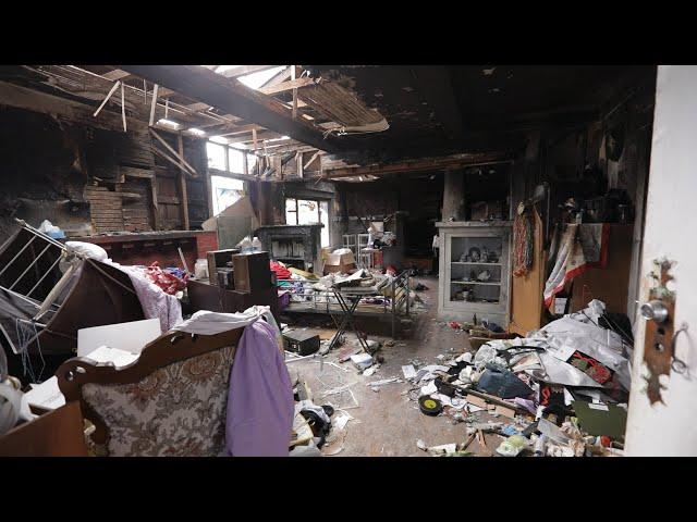 미국 LA 한인타운에 있는 불에 탄 집 새 집으로 리모델링 예상 순이익 $ 200,000