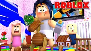 I GO TO THE GUARDERÍA AND GAME WITH MY BABY FRIENDS ♥!! Roblox