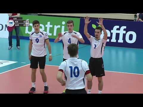 U20 EM flogbóltur menn: Ísland - Luksemborg