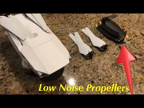 DJI Mavic Pro Alpine White - Low Noise Platinum Propeller Test 4K