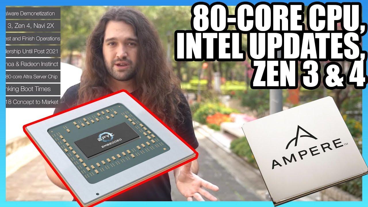 Hw News New 80 Core Cpu Intel Behind Until 2021 Amd Zen 3 4 Youtube