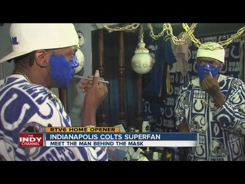 Indianapolis Colts Superfan unmasked