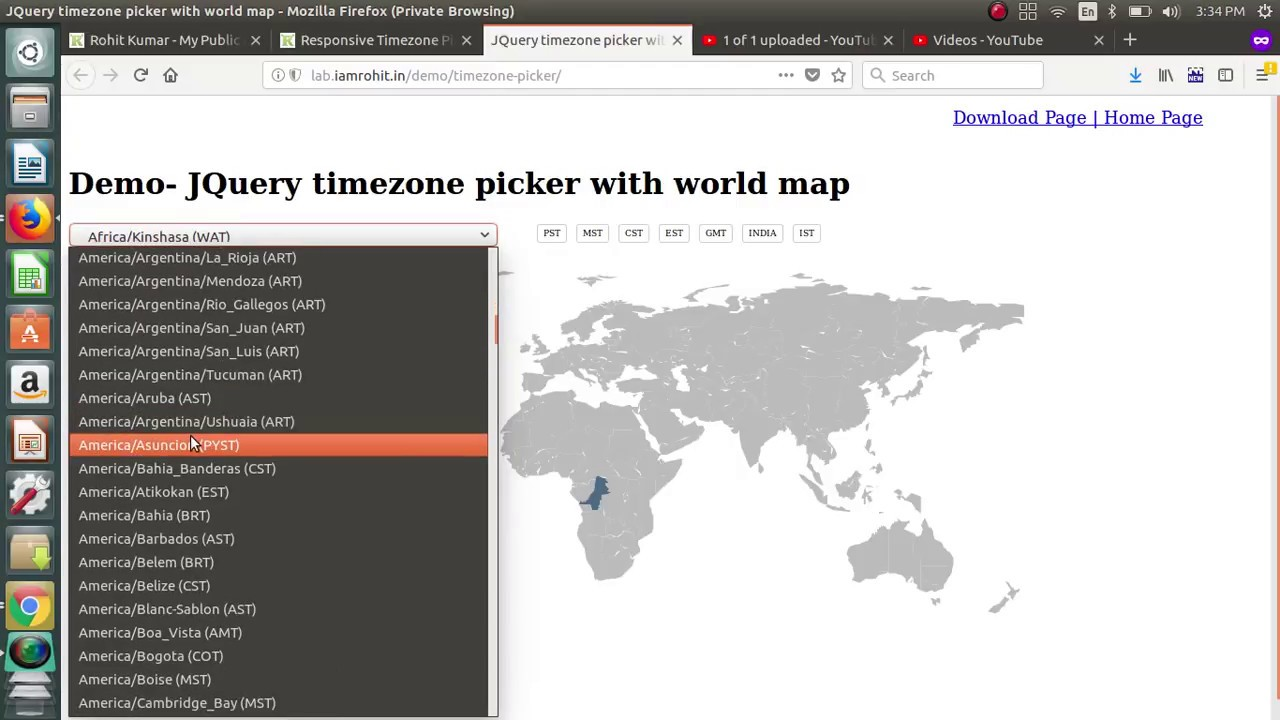 Responsive timezone picker for selected country with world map responsive timezone picker for selected country with world map gumiabroncs Images