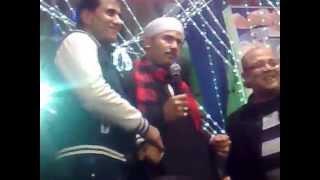 الفنان هانى الصعيدى مع النجم أحمد شيبه والممثل حسن عبد الفتاح
