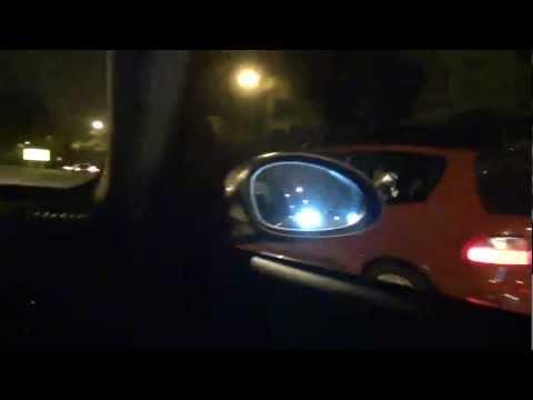 BMW 335i tuned vs. Civic Eg k-series swap 30 & 45mph roll race