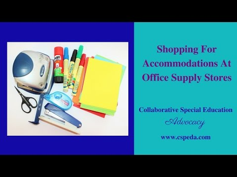 Shopping For Accommodations At Office Supply Stores