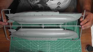 Merit 1/35 British X-Craft Submarine unboxing