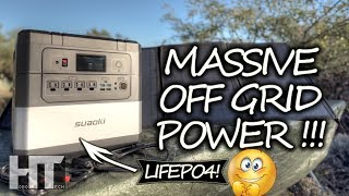 HUGE LiFePO4 OFF GRID Solar Generator! 1187wh Suaoki G1000 UPS Portable Power Station Review