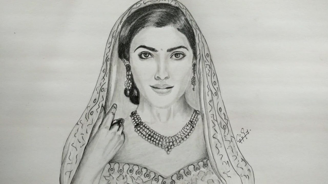Pencil drawing samantha ruth fan art drawing