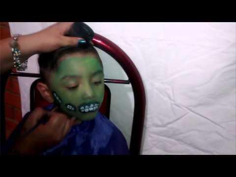 Maquillaje de zombie para ni o sin l tex youtube - Como maquillarse de zombie ...