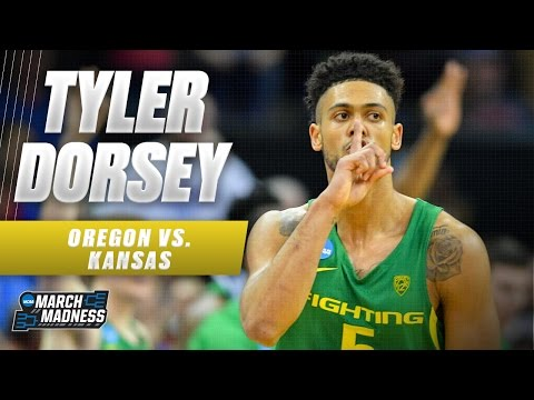 Oregon vs. Kansas: Tyler Dorsey with 27 CLUTCH points!