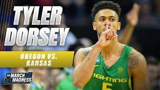 Oregon Vs. Kansas: Tyler Dorsey With 27 CLUTCH Points!