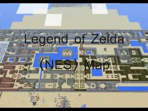 Minecraft: Legend of Zelda Map (NES) - YouTube