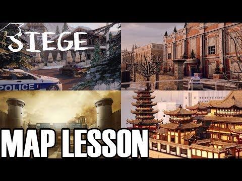 How I Teach Friends Maps #2 - Siege School Mini-Lesson (Rainbow Six Siege)