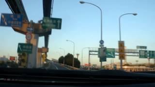 名神高速道路 吹田IC入り口から京都方面へ向かう