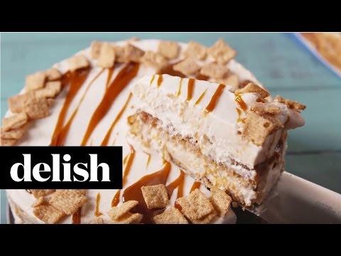 How To Make Cinnamon Toast Crunch Ice Cream Cake | Delish