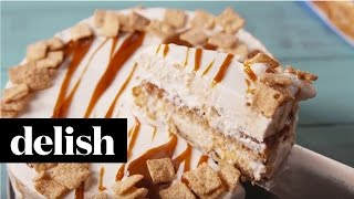 How To Make Cinnamon Toast Crunch Ice Cream Cake  Delish