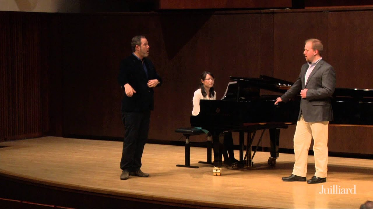 Gerald Finley Master Class, May 7, 2015: Eric Jurenas and Juliana Han