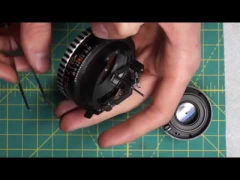 Carl Zeiss Jena 50mm f2.8 Lens Disassembly and Diaphragm Cleaning