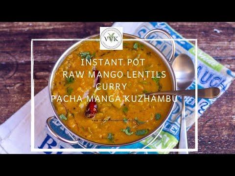 instant-pot-raw-mango-lentils-curry-|-pacha-manga-kuzhambu