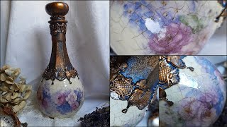 Decorating glass ♡♡♡Decoupage tutorial