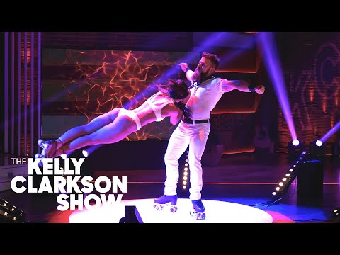 Watch Death-Defying Roller Skating Duo Emily & Billy From 'AGT' | The Kelly Clarkson Show