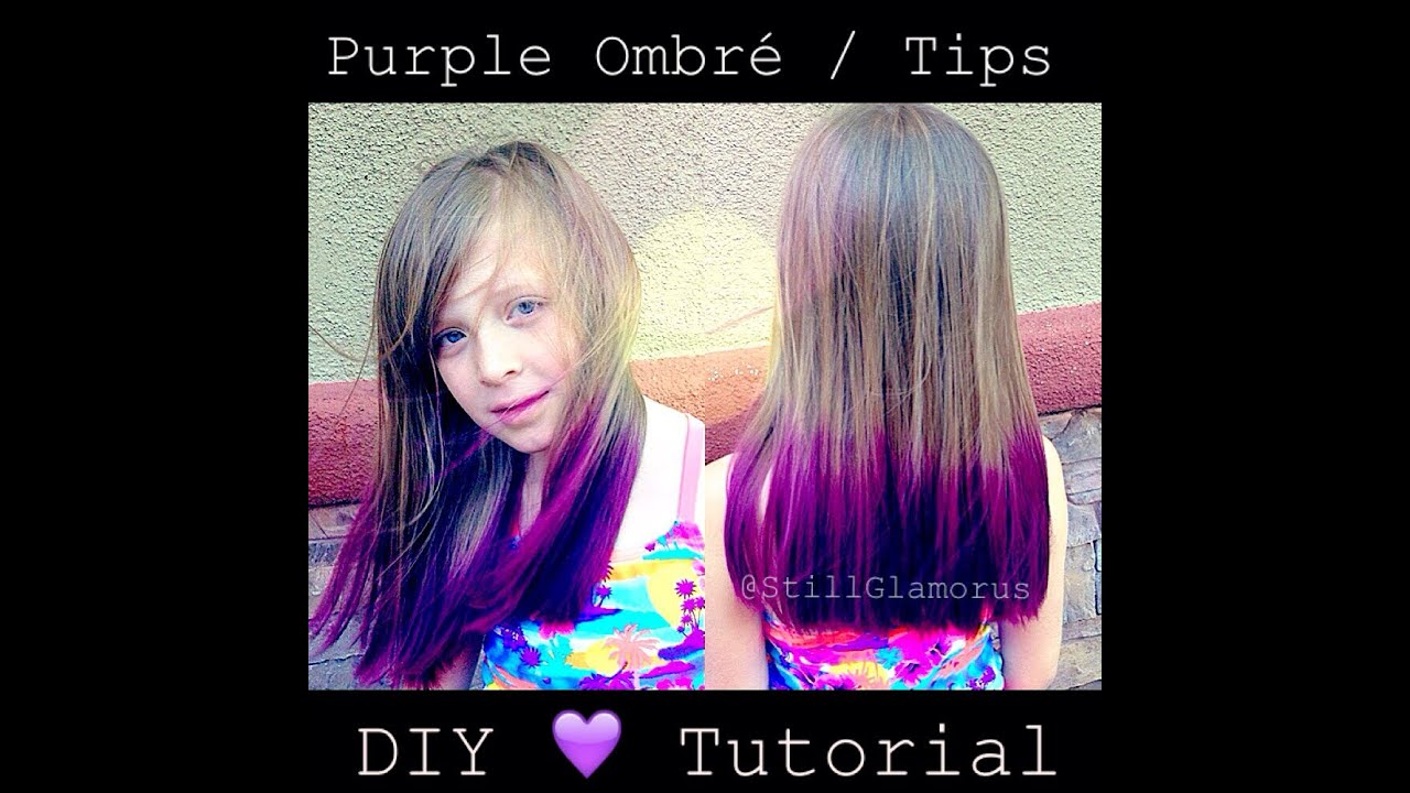 Purple Ombre Tips ♡ Diy Tutorial Youtube