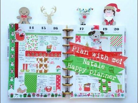 Plan With Me Natale Happy Planner Giada Giungi Youtube