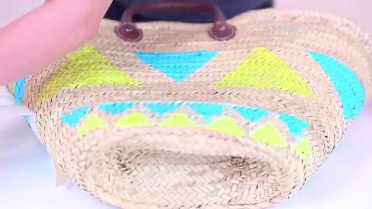 Peindre Un Panier En Osier how to customiser vos sacs pour l'été?