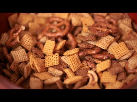 Homemade Chex Mix Recipe || KIN EATS