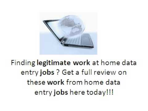Legitimate Online Job Opportunity