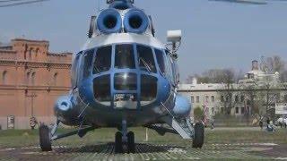 взлет и посадка вертолета ми 8 Петропавловская крепость Санкт-Петербург