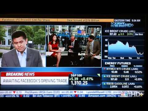 CNBC Reporting on Facebook's IPO & Opening Bell Ceremony - May 18, 2012