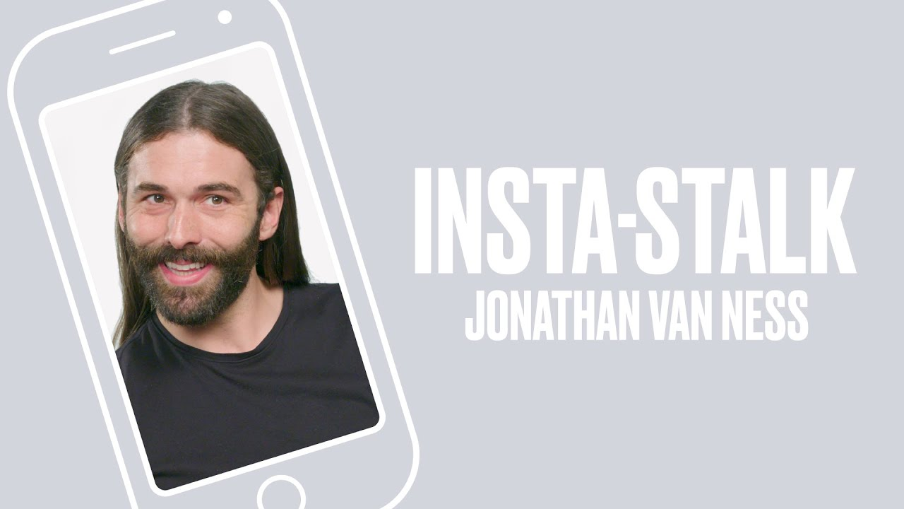 Queer Eye's Jonathan Van Ness Insta-Stalks the Fab Five - YouTube