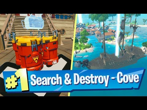 NEW Search And Destroy Gameplay (Cove Map) - Fortnite Battle Royale