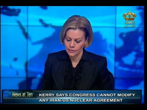 English News at ten in Jordan Television 11-03-2015