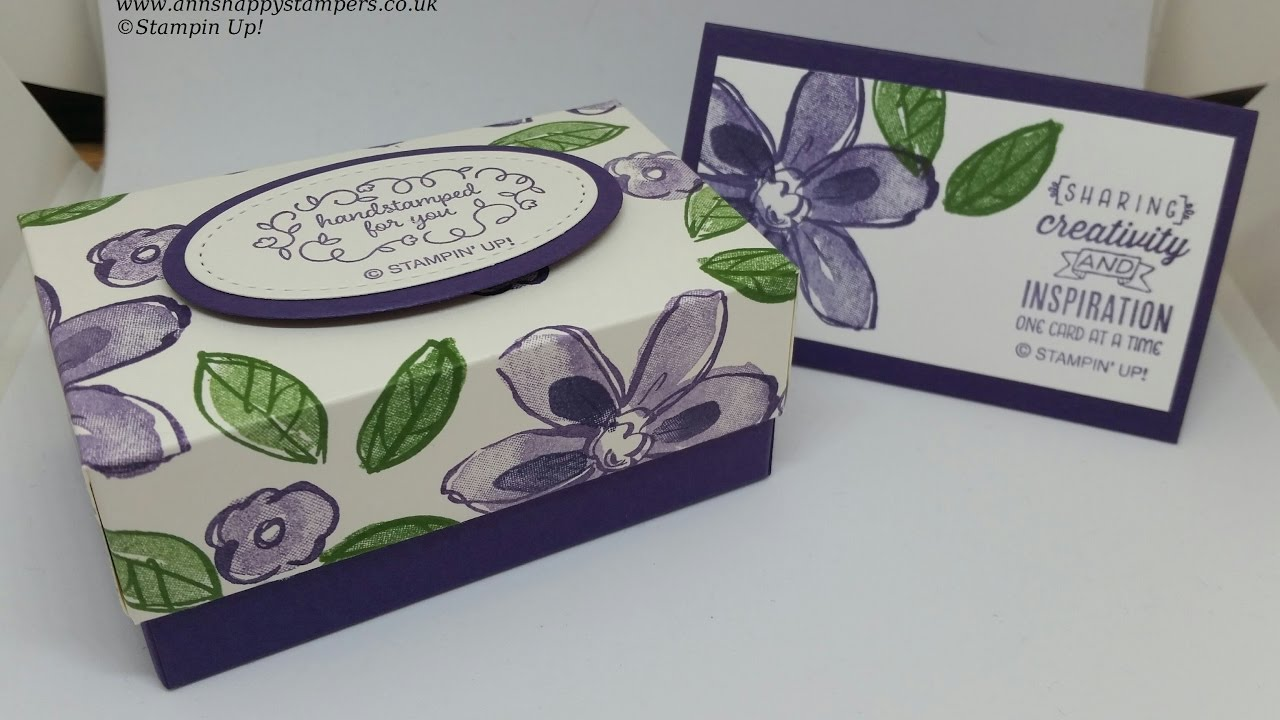 Beautiful Gift Box for 30 Handmade Business Cards - YouTube